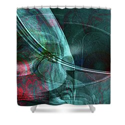 Shower Curtain featuring the digital art King Crimson by Linda Sannuti