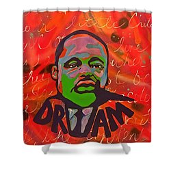 King Dreaming Shower Curtain by Miriam Moran