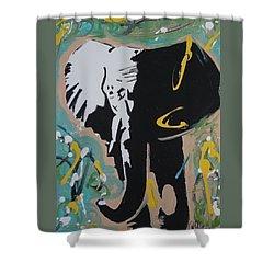 King Elephant Shower Curtain