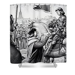 King Henry Vii Shower Curtain by Pat Nicolle