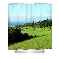 Shower Curtain featuring the photograph King Kamehameha Golf Club by Kirsten Giving