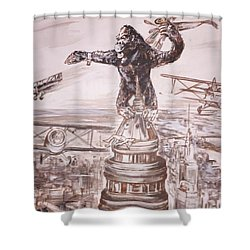 King Kong - Atop The Empire State Building Shower Curtain