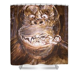 King Kong - Deleted Scene - Kong With Native Shower Curtain