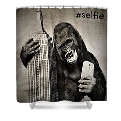 King Kong Selfie Shower Curtain