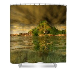 King Kongs Island Shower Curtain