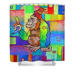 King Konrad The Monkey Shower Curtain