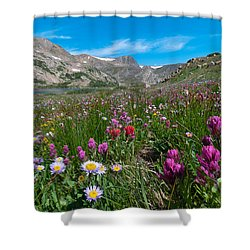 Shower Curtain featuring the photograph King Lake Summer Landscape by Cascade Colors