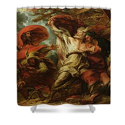 King Lear Shower Curtain by Benjamin West