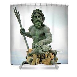King Neptune Statue Shower Curtain