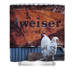 King Of Beer Doodle Do Shower Curtain by Lee Craig
