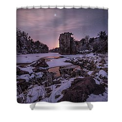 Shower Curtain featuring the photograph King Of Frost by Aaron J Groen