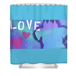 King Of My Heart Shower Curtain by Melissa Goodrich