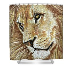 Shower Curtain featuring the drawing King Of The Jungle by Heidi Kriel
