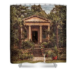 Kew Gardens, England - King William's Temple Shower Curtain