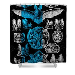 Shower Curtain featuring the digital art Kingdom Of The Silver Bats by Serge Averbukh