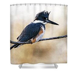 Kingfisher Listens Shower Curtain