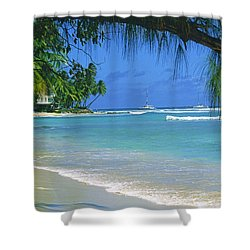 King's Beach, Barbados Shower Curtain