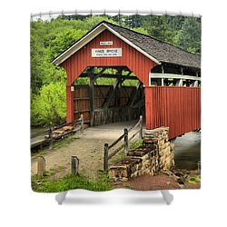 Kings Covered Bridge Somerset Pa Shower Curtain