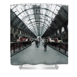 Kings Cross London Shower Curtain