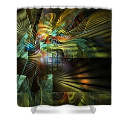Shower Curtain featuring the digital art Kings Ransom by NirvanaBlues