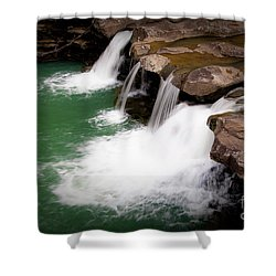 Kings River Falls Shower Curtain by Tamyra Ayles