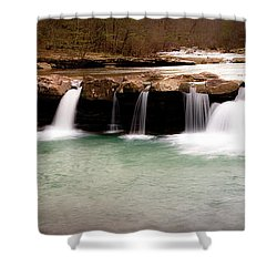 King's River Panorama Shower Curtain by Tamyra Ayles