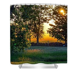 Shower Curtain featuring the photograph Kingsbury Sunset by Kendall McKernon