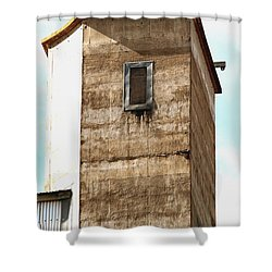 Shower Curtain featuring the photograph Kingscote Dungeon by Stephen Mitchell