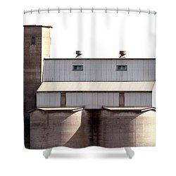 Shower Curtain featuring the photograph Kingscote Skyrise by Stephen Mitchell