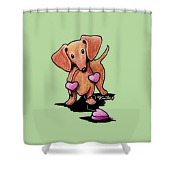 Kiniart Heartstrings Doxie Shower Curtain