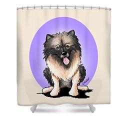 Kiniart Keeshond Shower Curtain by Kim Niles