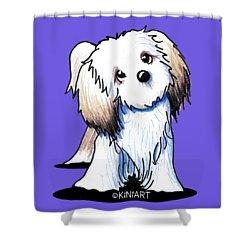 Kiniart Lhasa Apso Shower Curtain by Kim Niles