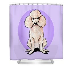 Kiniart Poodle Shower Curtain by Kim Niles
