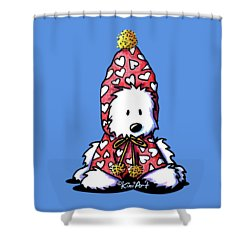 Kiniart Snowbunny Westie Shower Curtain by Kim Niles
