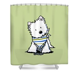 Kiniart Westie Terrier Shower Curtain