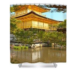 Kinkakuji Golden Pavilion Kyoto Shower Curtain