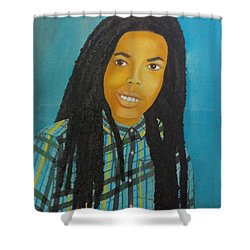 Kinshasa My First Grandchild Shower Curtain
