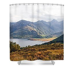 Kintail - Wester Ross, Scotland Shower Curtain by Pat Speirs