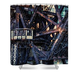 Kinzie Rail Bridge Detail Shower Curtain