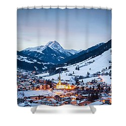 Kirchberg Austria In The Evening Shower Curtain