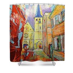 Kirche Und Altstadt Mettmann Shower Curtain