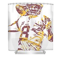 Kirk Cousins Washington Redskins Pixel Art 10 Shower Curtain