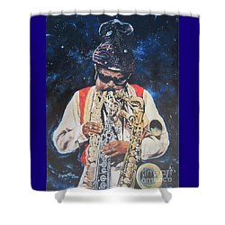 American History. .  Rahsaan  Roland Kirk  Shower Curtain