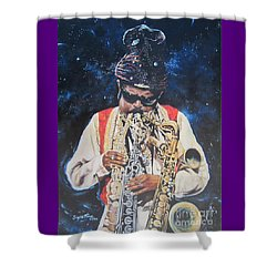 Blue Cat Productions.  Rahsaan  Roland Kirk  Shower Curtain