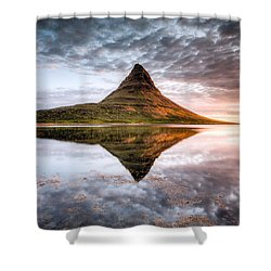 Kirkjafell Mountain Sunrise Shower Curtain