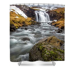 Kirkjufellsfoss Sibling  Shower Curtain