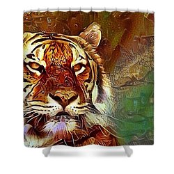 Kisa  Shower Curtain by Geri Glavis