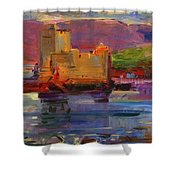 Kisimul Castle And Vatersay Shower Curtain by Peter Graham