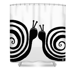 Shower Curtain featuring the painting Kiss Me by Lisa Weedn
