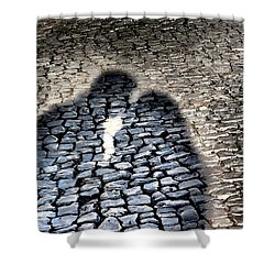 Kiss Me On The Cobblestone Shower Curtain by Dora Hathazi Mendes